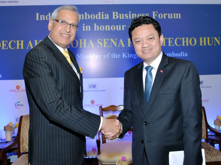 Meeting with H.E. Mr Pich Khun Panha, Ambassador of Cambodia