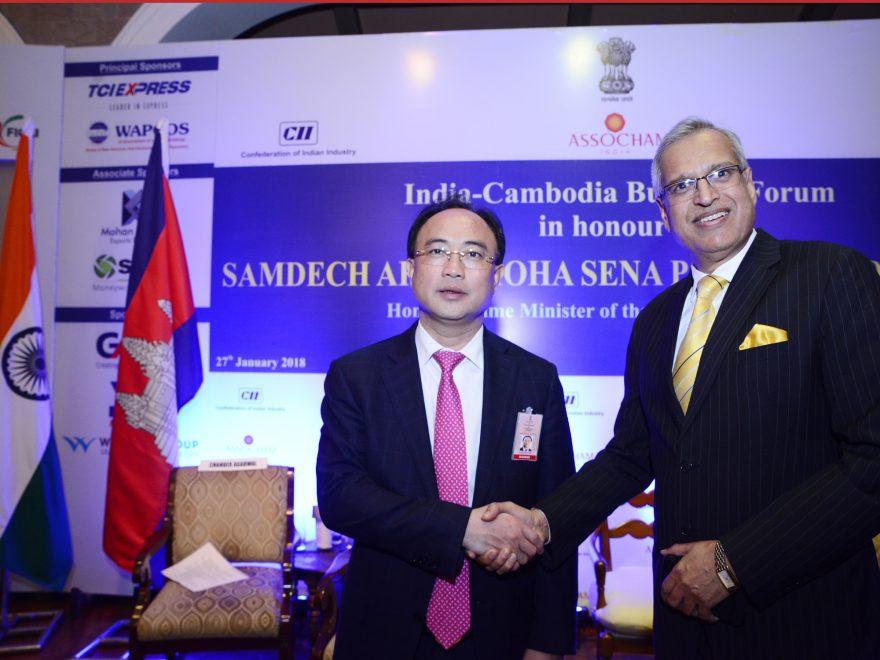 Meeting with Mr Neak Oknha Kith Meng, President, Cambodia Chamber of Commerce