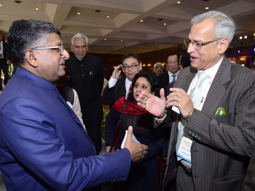 Meeting with Shri Ravi Shankar Prasad, Hon'ble Cabinet Minister forLaw & Justice and Electronics & Information Technology, Government of India