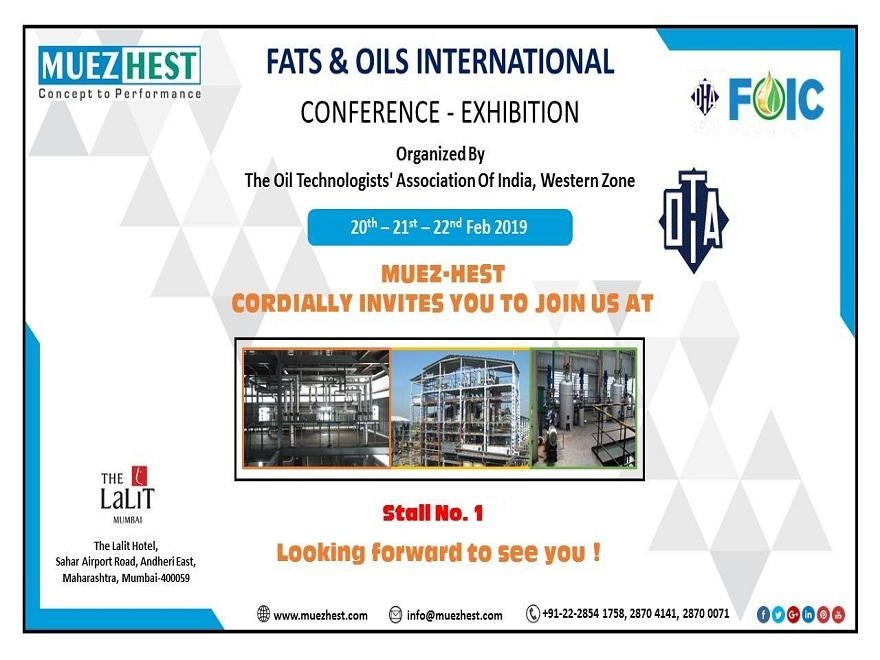 Fats and Oils International Conference 2019